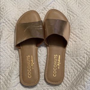 Coconuts by Matisse Metallic Slide Sandals
